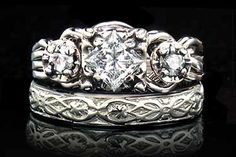 Dream engagement ring and wedding band!! Guinevere Royale Diamond Puzzle Ring / yovrs onli Bridal Set