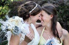 #lesbian #wedding #love    :) such honest, open, happy smiles <3