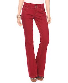RED JEANS; BOOT CUT