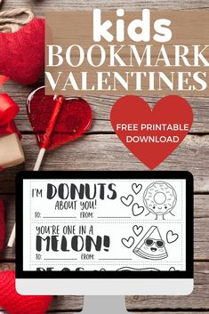 Kids Bookmark Valentines - Great For Classroom Valentine's Day Parties - Here are some easy and fun ways to have the BEST Valentine's Day Party for kids! Sharing tips for - Valentines Day Cakes, Valentines Day Activities, Homemade Valentines, Valentine Day Crafts, Pick Up, Valentine's Day Party Games, Valentine History, Bookmarks Kids, Valentine's Day Printables