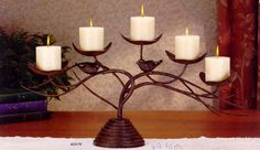 Wrought Iron bird candelabra  by Austin Products