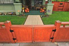 craftsman fence designs - Google Search