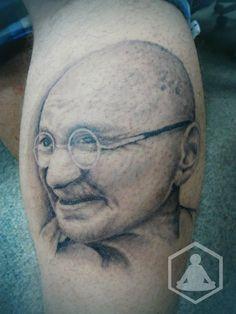 Gandhi Portrait - Healed