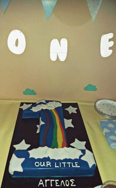 Aggelos rainbow and stars birthday party inspired by eldekor.gr - The Smell of Mommy Rainbow Birthday, Baby Birthday, 1st Birthday Parties, Birthday Cake, Greek, Kids Rugs, Lifestyle, Stars, Party