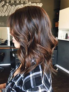 Wavy Glueless Lace Front Wigs Ombre Balayage Color Real Human Hair Density - March 09 2019 at Fall Hair Colors, Brown Hair Colors, Darker Hair Color Ideas, Fall Hair Color For Brunettes, Hair Colours, Long Bob Hairstyles, Brunette Hairstyles, Long Haircuts, Trendy Hairstyles