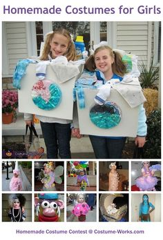 Homemade Costumes for Girls - a lot of DIY costume ideas!