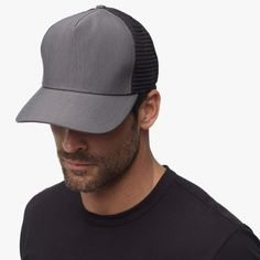 NEW for 2016: Grey Double Face Nylon Trucker Hat - James Perse