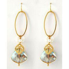 Faceted Drop Crystal Earrings