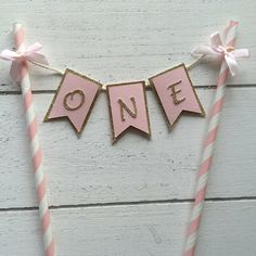 This cake banner has been made taking care of all the detail. You will get an outstanding cake topper for your cake when buying this. It has 3D effect between the back (gold) and the front (pink). Moreover the back of it will not show any string or white cardstock; it has been covered with a layer of pink so it looks nice and neat. You can use on any cake. If you need any different colors or a change in the design just contact me as these changes are available at not added price. Happy…