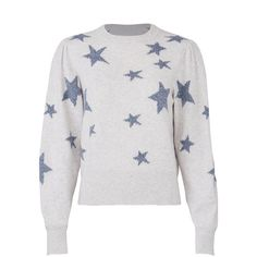 Rebecca Taylor Star Intarsia Sweater ($65) ❤ liked on Polyvore featuring tops, sweaters, rebecca taylor, intarsia sweaters, white sweater, star print sweater and rebecca taylor tops