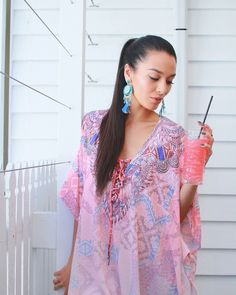Morocco Tunic. Tee rocks this with our Skyla earrings