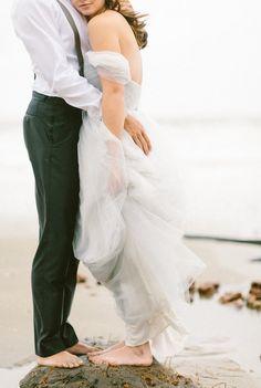 Dove gray wedding dress | Brianna Wilbur Photography