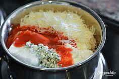 Skinny Buffalo Chicken Dip @stepable #recipes
