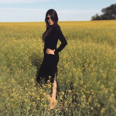 "1990s VINTAGE Black Velvet Long Sleeved Dress ""Powerline"" by MichellePiccione on Etsy"