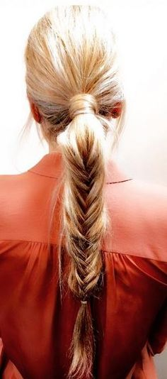 ponytail upgrade - just add a fishtail braid