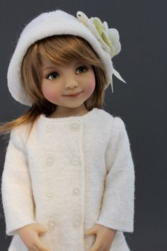 Vanilla Chai coat and hat set for 13 inch dolls such as Little Darlings by Dianna Effner by MatildaPink on Etsy https://www.etsy.com/listing/475518530/vanilla-chai-coat-and-hat-set-for-13