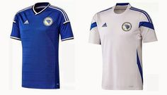 Bosnia & Herzegovina 2014 World Cup Team Jersey Wallpaper