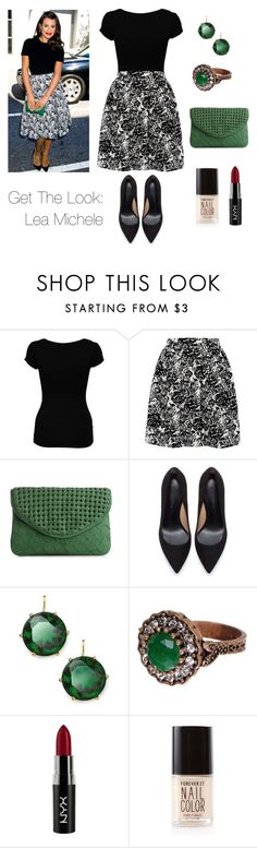 """Get The Look: Lea Michele"" by thecarly ❤ liked on Polyvore featuring Michele, Jane Norman, Tenki, Urban Expressions, Zara, Lauren Ralph Lauren, NYX and Forever 21"
