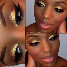 looooove gold makeup on brown skin! ♥