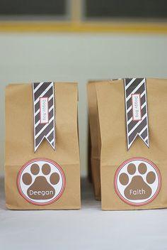 doggy bags. favors. partyaccessories.blogspot.com