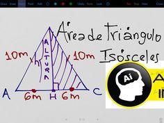 Área de un triángulo isósceles conociendo sus lados - YouTube Triangulo Isosceles, Company Logo, Logos, Youtube, Logo, Youtubers, Youtube Movies
