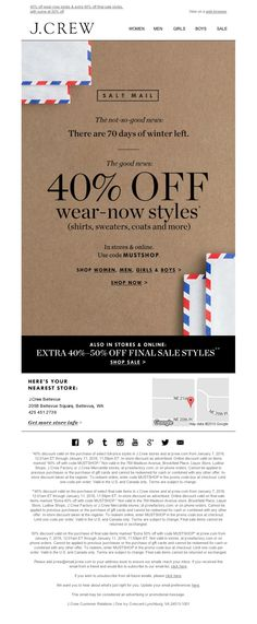 J.Crew - This sale mail is too good to miss - open up!