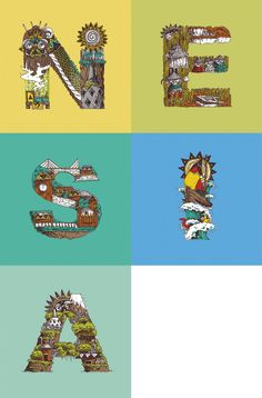 Nesia is short 4 #Indonesia, meaning islands in Sanskrit. Check out @michaelmicasso 's cool as typographic depiction http://cargocollective.com/michaelalexander