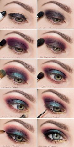 Exotic eye #makeup for the brave... but, I would wear this on normal day :D #Eye_Makeup #eyemakeup