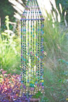 Suncatchers, Garden Crafts, Diy Crafts, Beaded Crafts, Fabric Crafts, Carillons Diy, Wind Chimes Craft, Wooden Wind Chimes, Hippie Stil