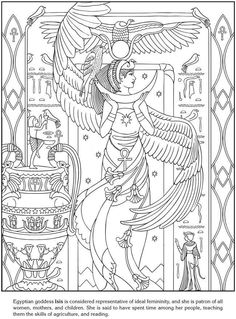Goddesses Coloring Pages Dover Publications Sample