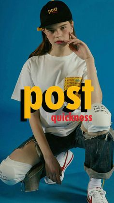 Just the writing on kneepads idea:) graphics. love the thick font and the matching hat Web Design, The Design Files, Layout Design, Editorial Design, Editorial Fashion, Cover Design, Cv Inspiration, Foto Fashion, Look Girl