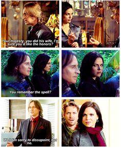 Regina has a special scowl just for Rumple