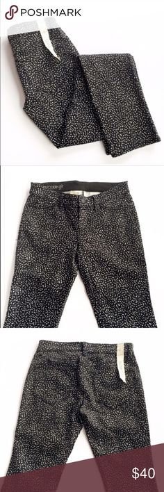NWT Ann Taylor printed skinny pants Brand new with tags,  black and white printed pants from Ann Taylor, size 0. Slim leg. Ann Taylor Pants Skinny
