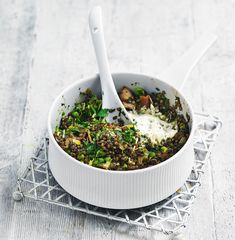 The combination of salty bacon and earthy lentils make this quick midweek dinner recipe a sure winner, plus all of the ingredients can be found in your store cupboard!