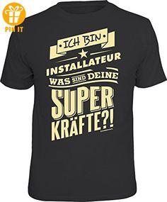 Superkräfte Installateur - T-Shirts - 100% Baumwolle Öko-Tex Standard 100 - Grösse XXL - T-Shirts mit Spruch | Lustige und coole T-Shirts | Funny T-Shirts (*Partner-Link)