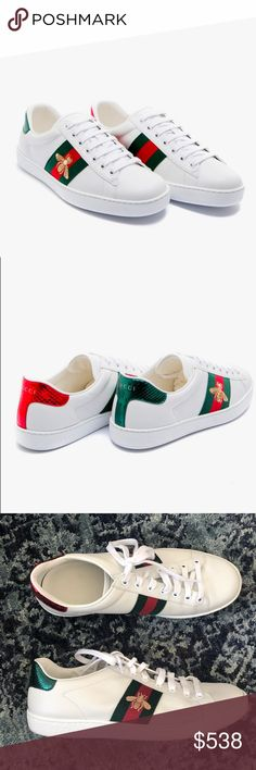 8d37dc11d58 Gucci Ace Sneakers w Dust Bags ✨ Classic low-top sneaker with Gucci s  iconic gold