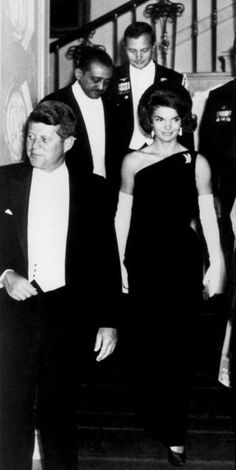 "Jackie made one-shoulder LBD evening gowns and ""opera length gloves"" (nearly to the shoulder) the LOOK for ""after six events"" in the 60's & beyond."