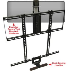 "Amazon.com: MantelMount® Pull-Down TV Wall Mount Bracket w/ Full Motion for 48-80""inch, 30-115lb LCD, LED & Plasma Flat Screen TV's: Electronics"