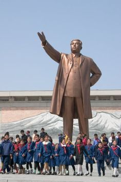 """monument to Kim Il Sung / **sometimes i'll be reading a dystopian novel (one of my favorite genres) and think, """"This world could never really exist,"""" and then I remember . . .  these societies have always existed, they exist today, and they will more than likely exist tomorrow.**"""