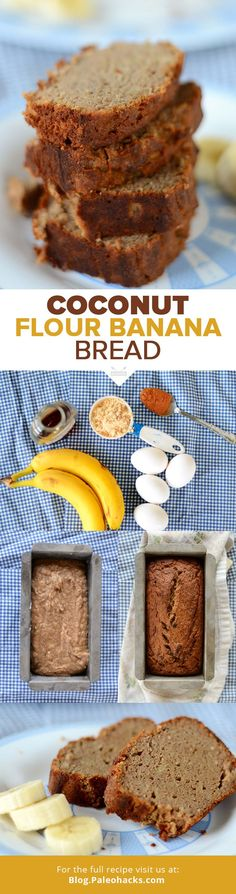 Want a super easy treat that uses up those ripening bananas on your counter? Try this recipe for Paleo Banana Bread. It bakes up soft, moist, fluffy, and sweet! For the full recipe visit us here: paleo.co/CFNanaBread #paleohacks #paleo