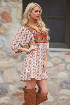 Boho Baby Boll Dress -Taupe (S to 2XL) from Closet Candy Boutique