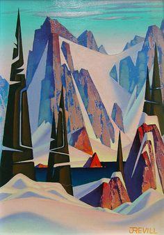 Winter Point ~ by John Revill, Canadian Artist