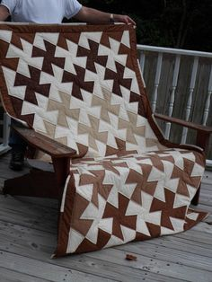 Twister Quilt.  I like this one because it shows off the browns separated by the whites.  Would also look pretty in about any other color as well.