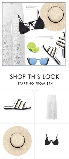 """""""Summer Days"""" by firstboutique ❤ liked on Polyvore featuring Proenza Schouler, Ermanno Scervino, Linda Farrow, Martha Stewart, Summer, white, black and beach"""