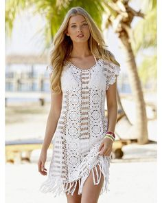 CROCHET FASHION TRENDS exclusive crochet summer dress - made to order: