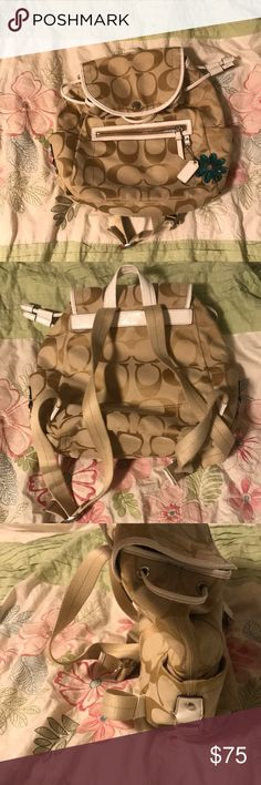Coach backpack Very cute, like new coach backpack. Great for the beach! Coach Bags Backpacks