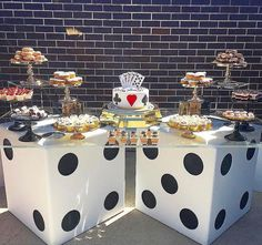 Casino night party las vegas party themed birthday parties c Adult Party Themes, Party Food Themes, Casino Party Foods, Casino Theme Parties, Birthday Party Themes, Party Ideas, Vegas Birthday, Birthday Ideas, 50th Birthday
