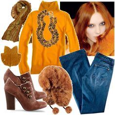 warm autumn colors, created by joostyna on Polyvore
