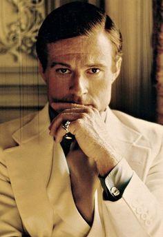 """Robert Redford en """"El Gran Gatsby"""", 1974."""