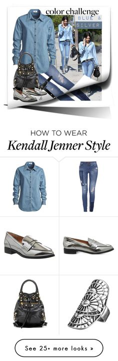 """""""Rock this look  - Blue and Silver"""" by grachy on Polyvore featuring Morgan, Vale, ASOS, Balenciaga, Office, maurices, contestentry, polyvoreeditorial, colorchallenge and blueandsilver"""